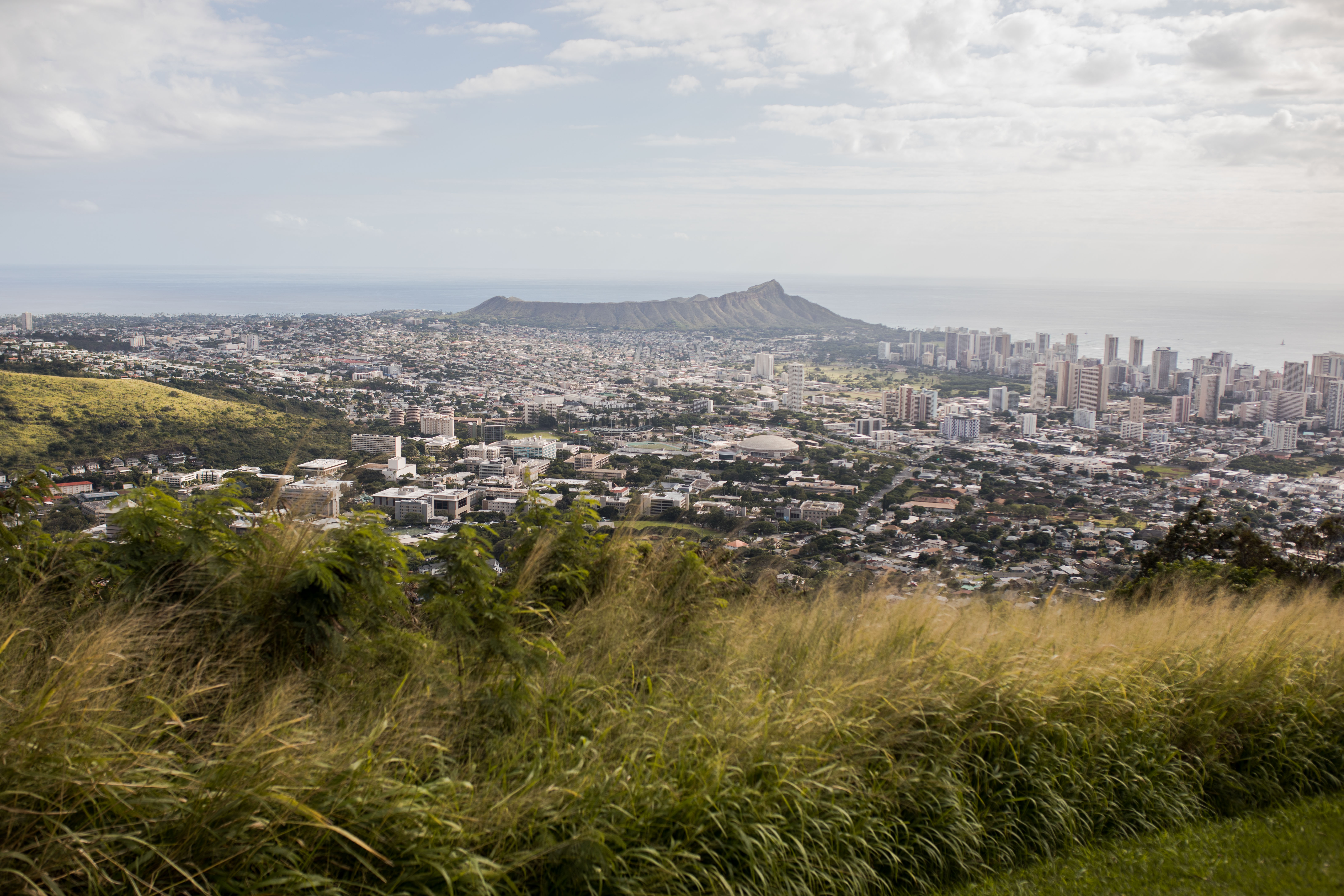Tantalus Lookout is a popular summit in Oahu, Hawaii